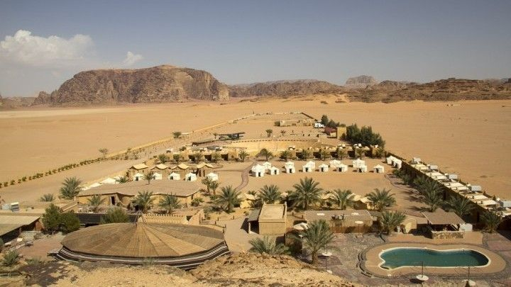Camp in Wadi Rum